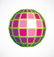 Purple faceted orb created from squares vector image