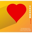 red heart web icon flat design vector image vector image