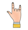 rock and roll hand gesture icon image vector image vector image