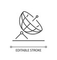 satellite dish linear icon vector image vector image