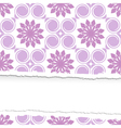 seamless floral pattern ripped vector image vector image