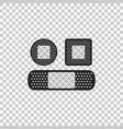 set bandage plaster icon on transparent background vector image