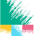 set of abstract pink green yellow blue rounded vector image vector image