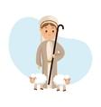 Shepherd icon Merry Christmas design vector image vector image