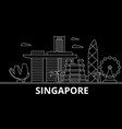 singapore silhouette skyline china - singapore vector image vector image