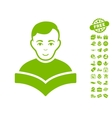 Student Icon With Free Bonus vector image vector image