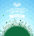 Summer geometric background vector image vector image