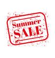 Summer sale stamp red vector image