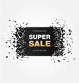 super sale explosion banner vector image