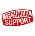 technical support sign or stamp vector image