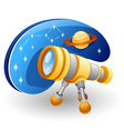 telescope cartoon vector image