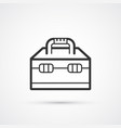 toolbox flat line black icon eps 10 vector image vector image