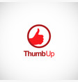 tumb up like logo vector image