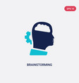 two color brainstorming icon from creative pocess vector image vector image