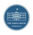 white house icon vector image