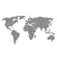 worldwide atlas mosaic of human footprint items vector image vector image