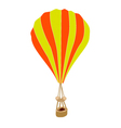 Yellow and Orange Parachute on White Background vector image vector image