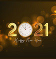 2021 happy new year greeting card vector image vector image