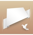 Abstract Paper Banner Origami vector image