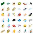 Achievement icons set isometric style vector image