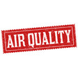 air quality sign or stamp