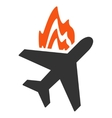 Airplane Fire Icon vector image vector image
