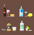 alcohol drinks beverages cocktail appetizer bottle vector image vector image