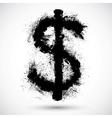 an American Dollar splatter design element vector image vector image