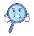 angry magnifying glass character cartoon vector image vector image