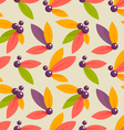 autumn berries pattern vector image vector image