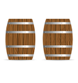 barrel two icon in brown vector image vector image
