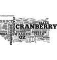 best recipes cranberry salad squares text word vector image vector image