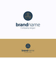 brand name logo vector image vector image