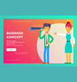 business concept successful businessman vector image