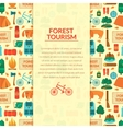 Camping equipment background vector image vector image