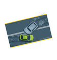 car accident top view flat vector image