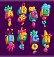 children font vector image