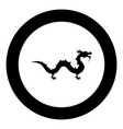 chinese dragon icon black color in circle round vector image