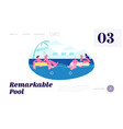 couple on resort floating at inflatable rings vector image vector image