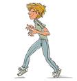 Cunning teen boy vector image