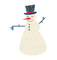 cute and funny cartoon snowman vector image