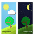 day and night on a clearing vector image vector image