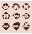 different faces and emotions vector image vector image