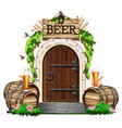 door to the pub vector image