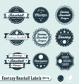 Fantasy Baseball Labels vector image vector image