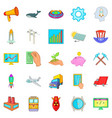 fee icons set cartoon style vector image vector image