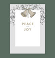 festive christmas decorative vintage greeting card vector image vector image