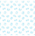 fitness seamless pattern with blue fitness icons vector image vector image
