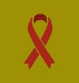flat icon on stylish background gay hiv ribbon vector image vector image