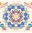 Flowers seamless round pattern decorative card do vector image